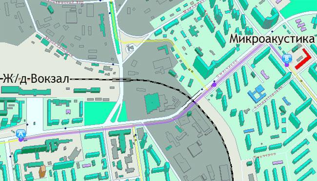 Карта проезда до здания ООО